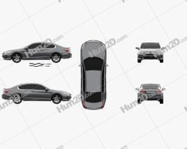 Honda Accord Touring 2016 car clipart