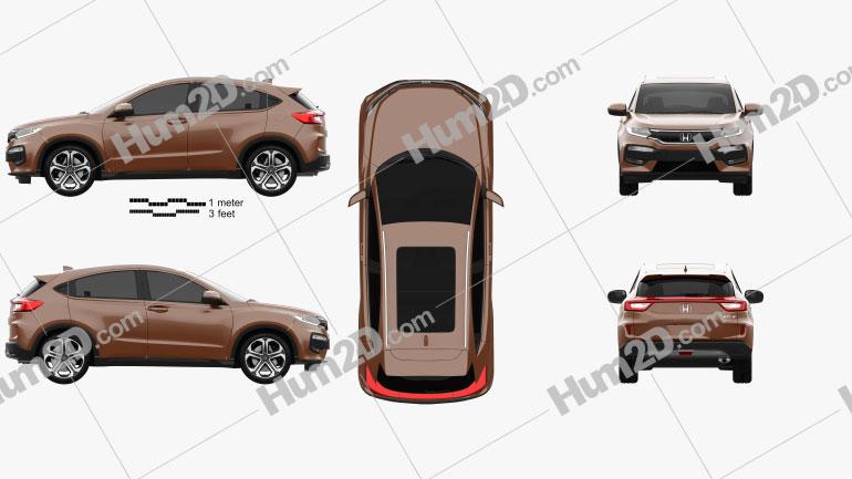 Honda XR-V 2015 Clipart Image