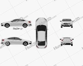 Honda Civic LX 2016 car clipart