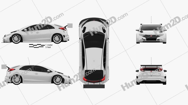Honda Civic WTCC 2014 car clipart