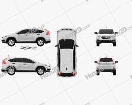 Honda CR-V LX 2015 car clipart