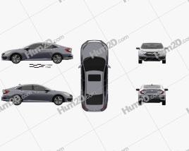 Honda Civic sedan Touring 2016 car clipart