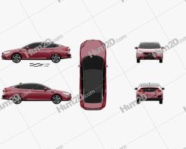Honda FCX Clarity 2016 Clipart
