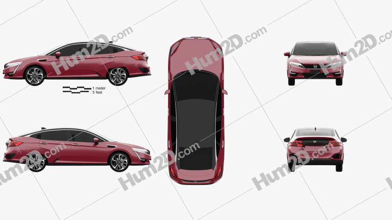 Honda FCX Clarity 2016 car clipart