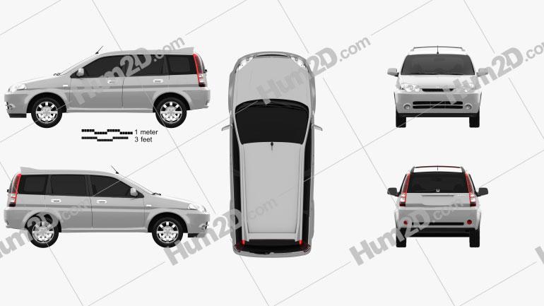 Honda HR-V 2001 car clipart