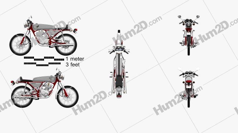 Honda CB50V Dream 50 1997 Motorrad clipart