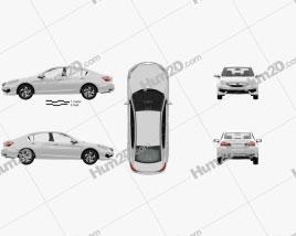 Honda Accord LX with HQ interior 2016 car clipart