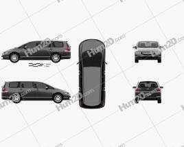 Honda Odyssey (RB1) (JP) 2003 clipart
