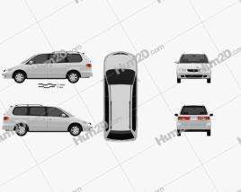 Honda Odyssey 1999 clipart