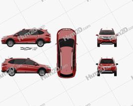 Honda BR-V 2016 car clipart