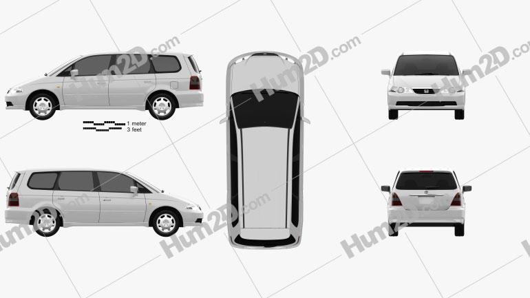 Honda Odyssey (JP) 1999 clipart
