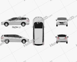 Honda Odyssey (JP) 2008 clipart