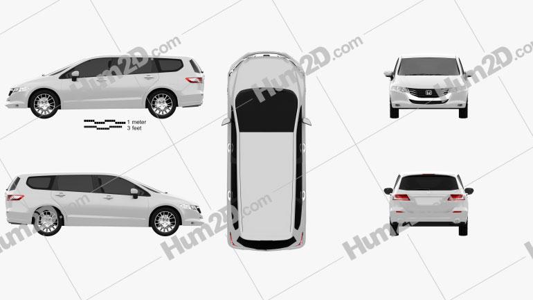 Honda Odyssey (JP) 2008 Clipart Image