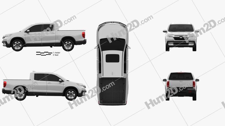 Honda Ridgeline 2017 Clipart Image