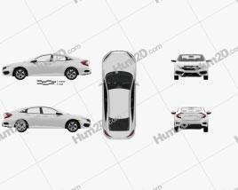 Honda Civic LX with HQ interior 2016 car clipart