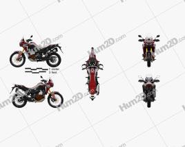 Honda CRF1000 Africa Twin 2016 Motorrad clipart