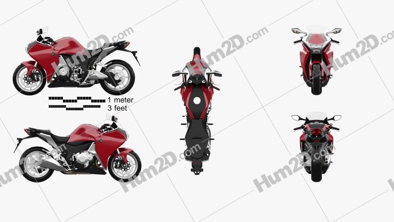 Honda VFR1200F 2015 Moto clipart