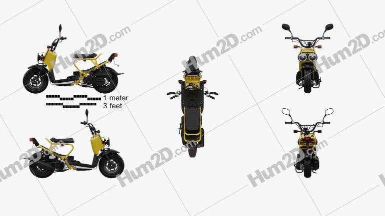 Honda NPS50 Zoomer (Ruckus) 2005 Moto clipart