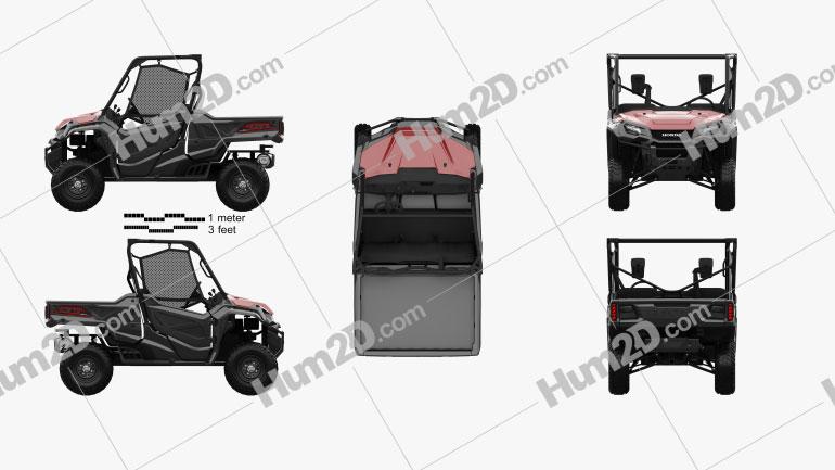 Honda Pioneer 1000-3 2016 clipart