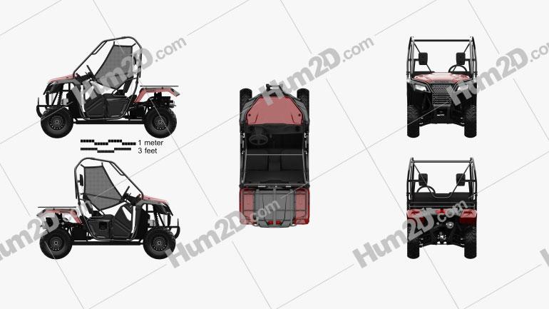 Honda Pioneer 500 2016 clipart