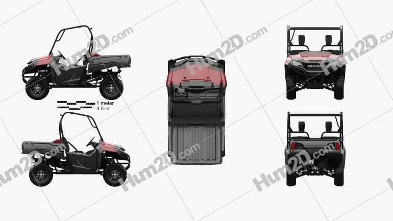 Honda Pioneer 700-2 2016 clipart