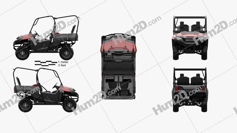Honda Pioneer 700-4 2016 clipart