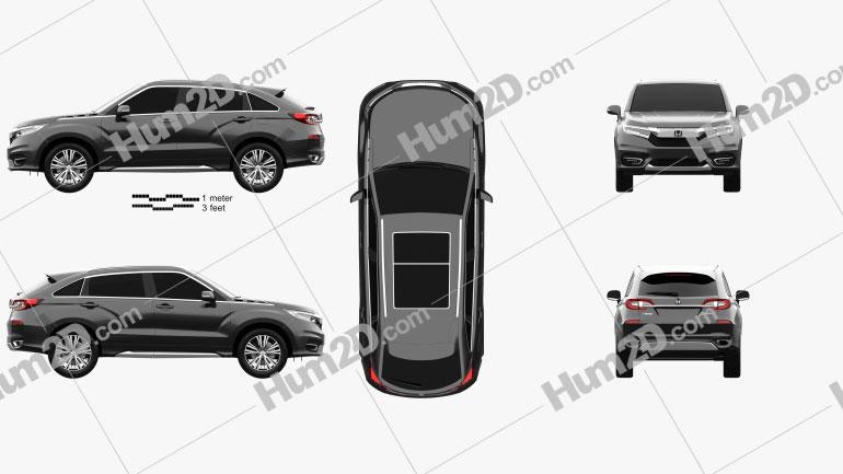 Honda Avancier 2016 Clipart Image