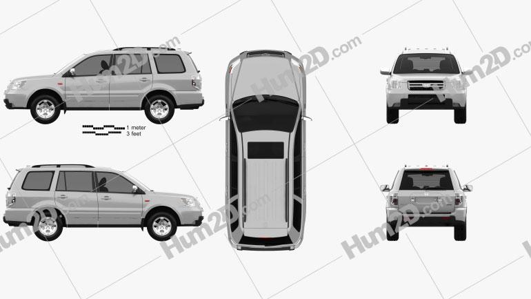 Honda Pilot EXL 2006 car clipart