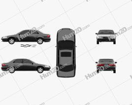 Honda Accord EX (US) 1998 car clipart