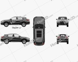 Honda Avancier with HQ interior 2016 car clipart