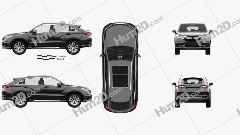 Honda Avancier com interior HQ 2016 Imagem Clipart