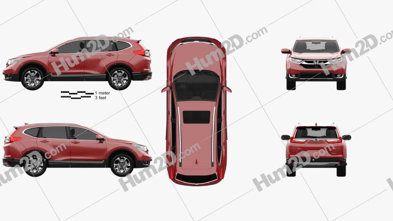 Honda CR-V Touring 2017 Clipart Image