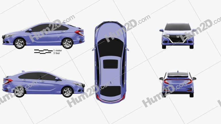 Honda Gienia 2016 car clipart