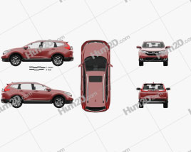 Honda CR-V Touring with HQ interior 2017 car clipart