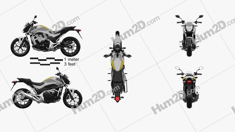Honda NC700S 2014 Clipart Image