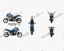 Honda NC750X 2016 Motorcycle clipart