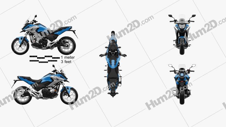 Honda NC750X 2016 Clipart Image