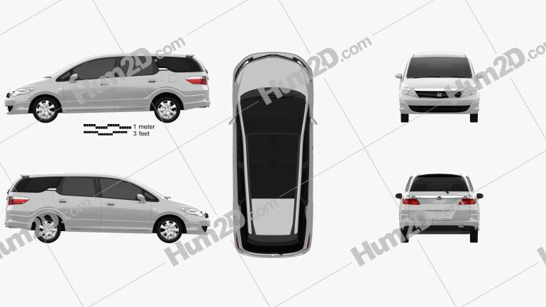 Honda Airwave 2005 Clipart Image