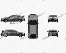 Honda Civic Type R Prototype 5-door hatchback 2016