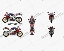 Honda CBR1000RR 2017 Motorrad clipart