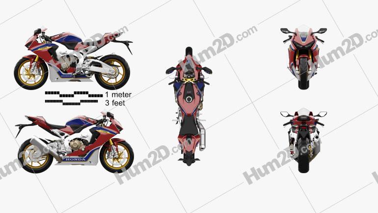 Honda CBR1000RR 2017 Motorcycle clipart