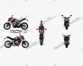 Honda CB650F 2017 Moto clipart
