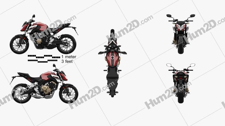 Honda CB650F 2017 Clipart Image