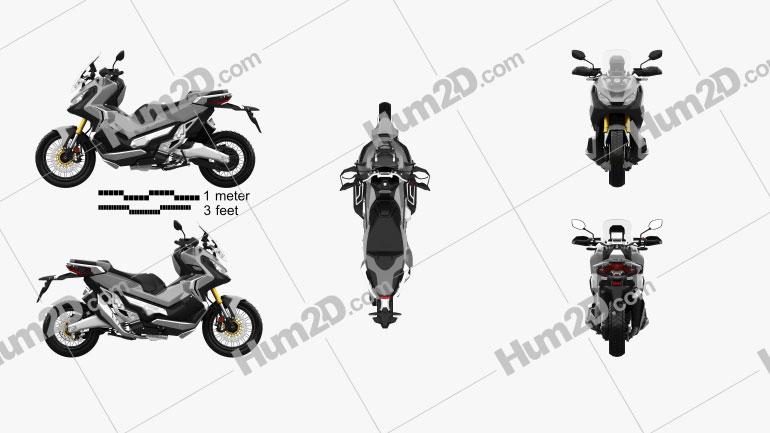 Honda X-ADV 2017 Moto clipart
