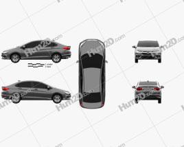 Honda City 2017 car clipart