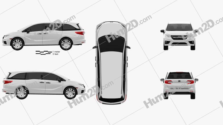 Honda Odyssey LX 2018 clipart