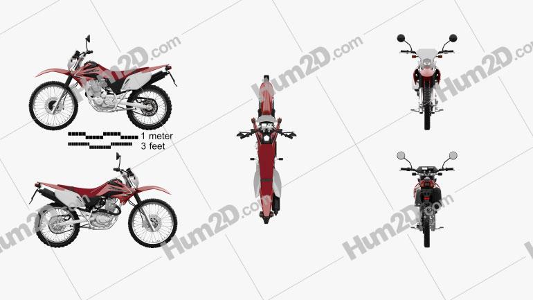 Honda XR230 2011 Moto clipart