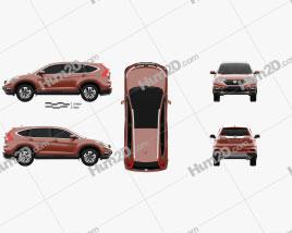 Honda CR-V (RM) UK-spec 2017 car clipart