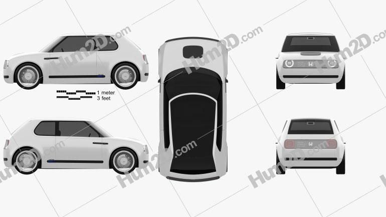 Honda Urban EV 2017 Clipart Image