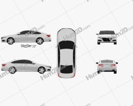 Honda Accord LX US-spec sedan 2018 car clipart